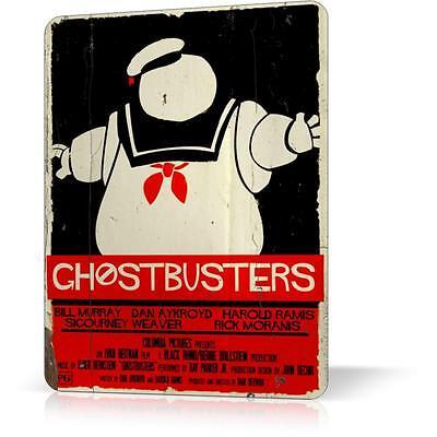 METAL TIN SIGN GHOSTBUSTERS MOVIE CLASSIC MOVIE 80s Retro Decor Pub Bar Home