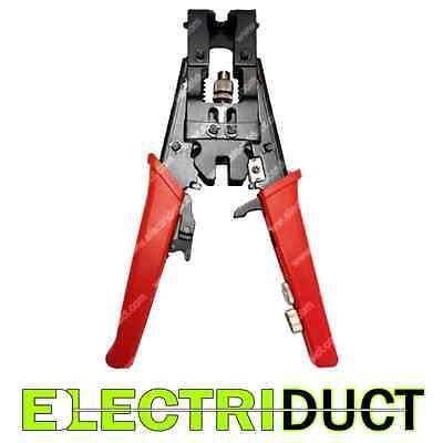 Bnc Rca F-type Coax Adjustable Compression Tool - Crimper - Electriduct