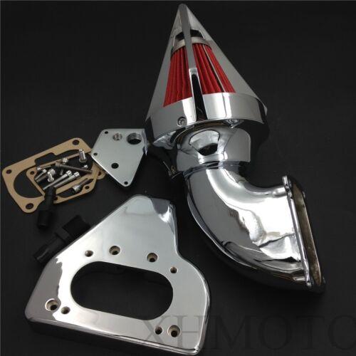 2002-2009 For Honda VTX 1800 R S C N F CHROME Cone Spike Motorcycle Air Cleaner