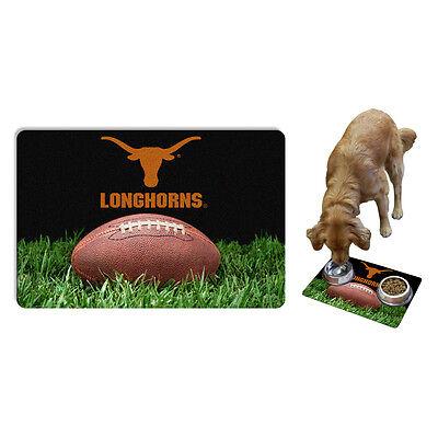 UT Texas Longhorns Pet Bowl Mat for Dog and Cat w/ Non Slip Back on Mat NCAA New