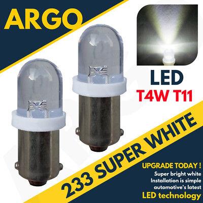 233 LED BA9S WHITE BULBS BAYONET CAP HID XENON LIGHT LAMP FRONT SIDE INDICATOR