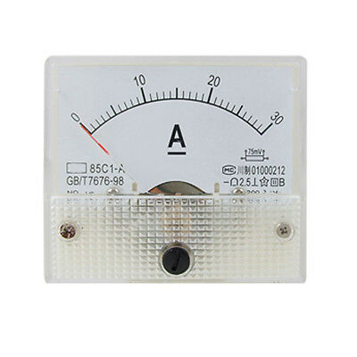 85c1 Analog Current Panel Meter Dc 30a Amp Ammeter Lw Szus