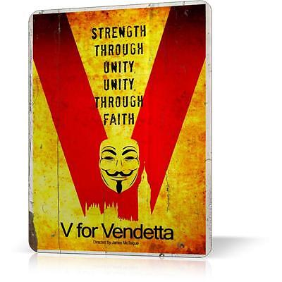 METAL TIN SIGN MOVIE V FOR VENDETTA ANARCHY Retro Decor Home POSTER