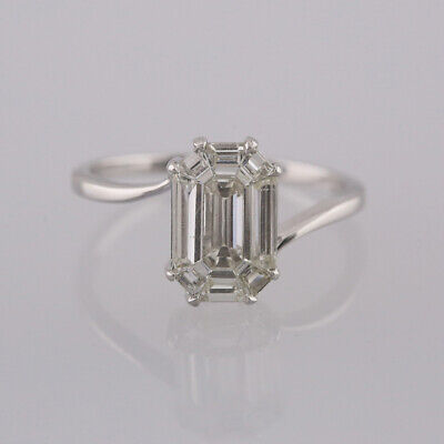 2.25 Carat Illusion Set Diamond Ring 18ct White Gold