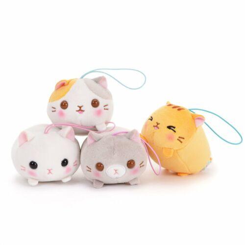 Japan AMUSE Mochikko Neko Nyanzu Cat Mochi Soft Plush Mini Strap Mascot Doll Toy