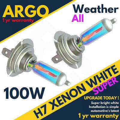 H7 Headlight Xenon White 100w Headlamp All Weather Light Bulbs Super 477 Hid 499