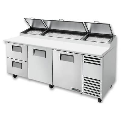 True Tpp-at-93d-2-hc 93 Pizza Prep Table W Refrigerated Base 115v