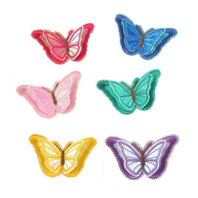 Embroidered 3 D Stickers - Embroidered 3D Butterfly Patches Iron on Sticker Fabric for Kids Clothes Bag Hat