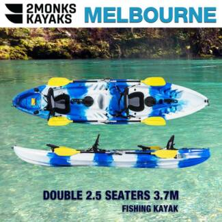 Brand New 2.5 Seaters Family Fishing Kayak 3.7M Canoe - 2Monks