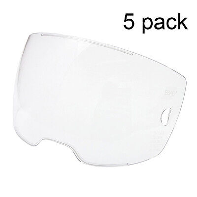 5 Each - Esab 0700000802 Clear Front Cover Lens For Sentinel A50 Helmet