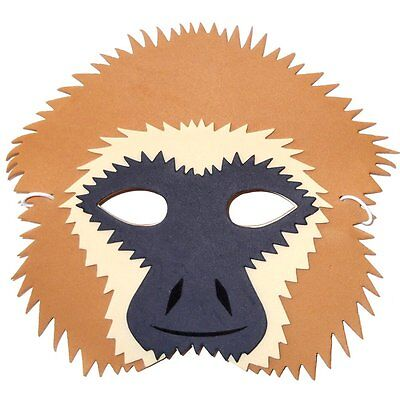 30 Gibbon Foam Masks - by Blue Frog Toys *New Design* Childrens Monkey Masks ()