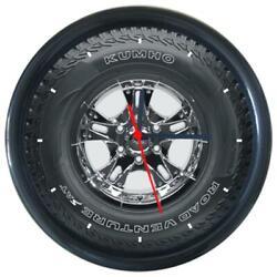 New Kumho Tire Car Logo Wheel Tire Design Round Wall Clock
