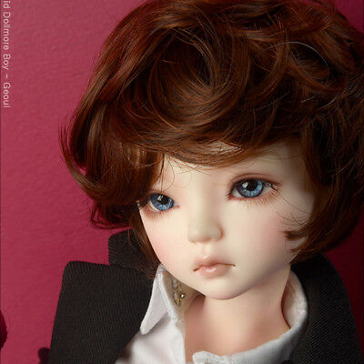 DM D.Brown 1//4 BJD MSD Wig 18-20 cm 7-8 inch  MX Blended Real Mohair Wig