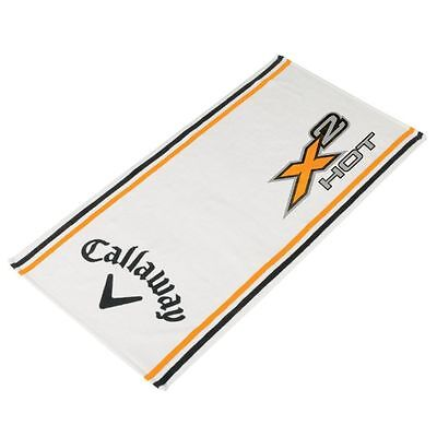 "Callaway Golf Towel Tour Authentic X2 Hot  White Large Players Towel - 37"" x 19"""