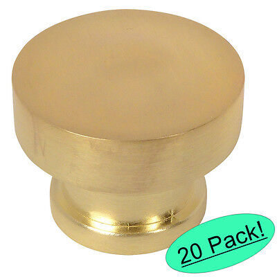 (*20 Pack* Cosmas Cabinet Hardware Brushed Brass Contemporary Cabinet Knob #704BB)