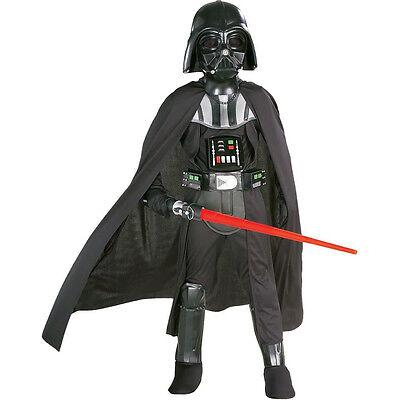 Darth Vader Childrens Costume (Star Wars Darth Vader Deluxe Child Kit Costume Halloween)