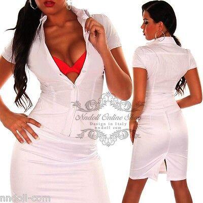 Camicia donna vestiti basic camicetta women elasticità maniche corta bianco