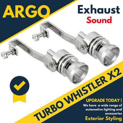 Turbo Auspuff Pfeife Pfeifgeräusch Auto Ablass Ventil Simulator Endrohr X 2