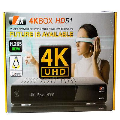 AX 4K HD-51 UHD Sat Receiver E2 1x DVB-S2 2160p H.265 HEVC Linux IPTV Digital + online kaufen