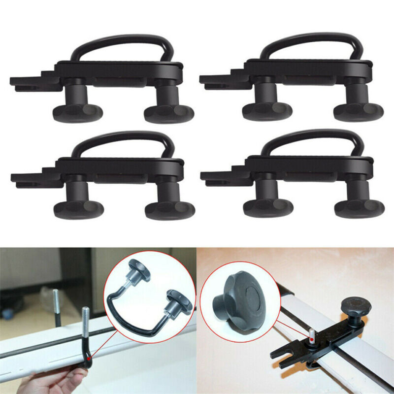 4pcs Stainless Steel Car U-Bolts Clamps Universal Roof Box Van Mounting Fitting