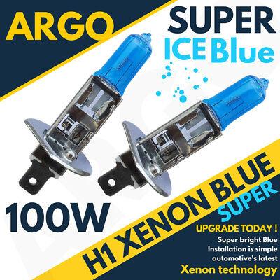 2 x H1 Ice Blue 100w Xenon Front Dipped Low Beam Headlight Headlamp Light Bulbs