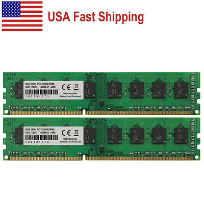 New 16GB 2x8GB DDR3-1600MHz PC3-12800 240pin DIMM AMD Chipset Motherboard Memory