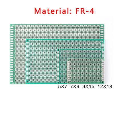 Single Side Tinned Prototyping Pcb Universal Stripboard Board Fr-4 Glass Fiber