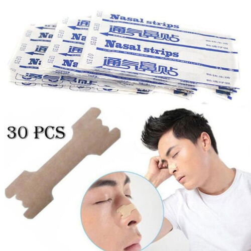 30pcs Anti Snore Nasal Strips to help Breathe Right & Better Stop Snoring Gifts