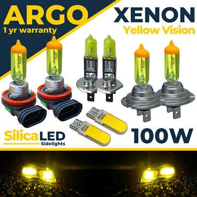 Para Ford Focus MK3 Faro Xenon Bombillas LED Amarillo Niebla Luz Lateral...
