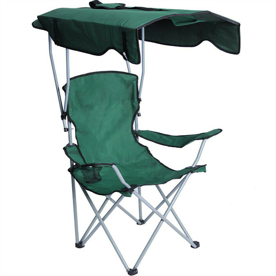 Portable Camping Chairs with Sun Shade Canopy Folding Chairs