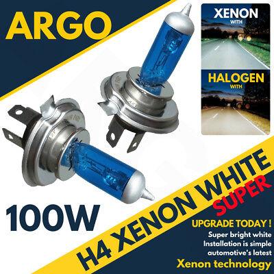 H4 100w 472 Rally Off Road Xenon Hid Super Bright White Headlamp Bulbs Sport