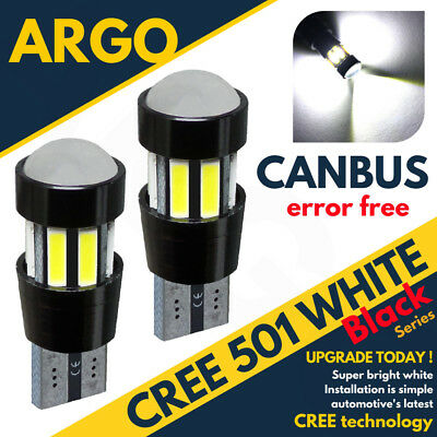 FORD 2x 501 T10 W5W 12V CREE LED XENON PARKING SIDELIGHT BULBS PURE WHITE LIGHT