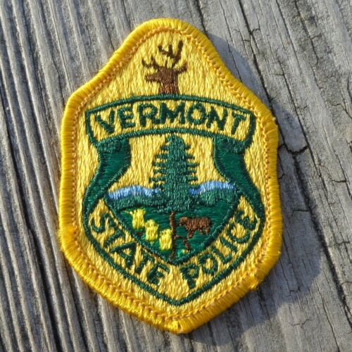 """Vermont VT State Police Small 3"""" Heavy Patch"""