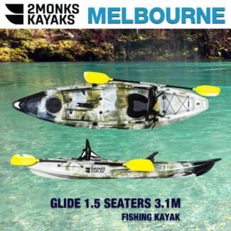 1.5 Seater Family Recreational Kayak *Brand New 2Monks*