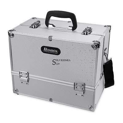 Professional Travel Aluminum Makeup Train Case Box Cosmetic Jewelry Organizer