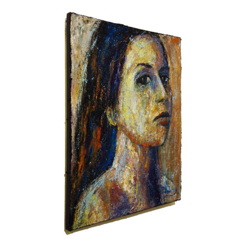 SIGNED ABSTRACT MODERN█ORIGINAL█OIL█PAINTING█VINTAGE█IMPRESSIONISM ART PORTRAIT
