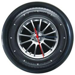New Yokohama TIRE Car Logo Wheel Tire Design Round Wall Clock