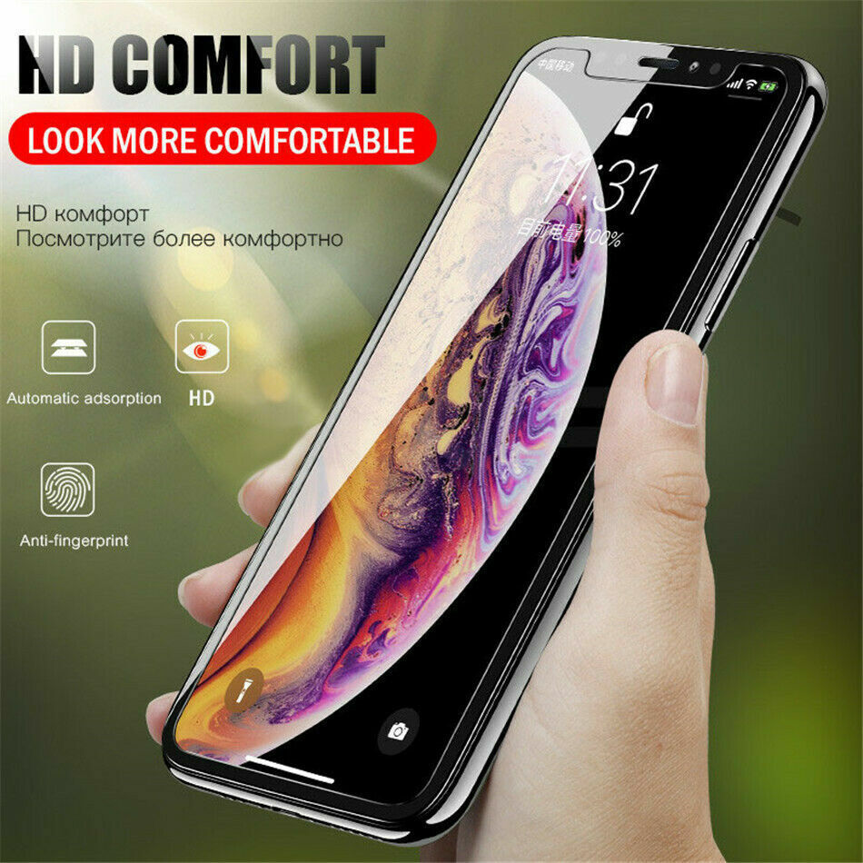 [6-Pack] Gorilla Tempered Glass Screen Protector for New iPhone XS Max XR XS X Cell Phone Accessories