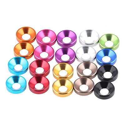 Anodized Turned Aluminium Countersunk Washers Colorful Cup Head Screw Gasket M5