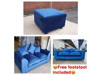 🚛FREE DELIVERY🚛BRAND NEW PLUSH VELVET CORNER SOFA SET WITH FREE MATCHING FOOTSTOOL INCLUDED✅