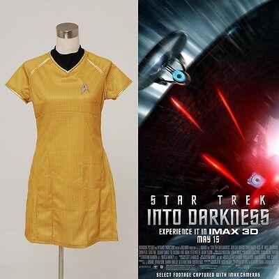 Star Trek Into Darkness Star Marcus Damen Gelb Kleid Uniform Cosplay Kostüm Rock ()