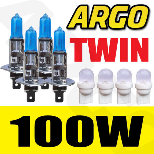 4x H1 XENON ICE WHITE 100W BULBS DOUBLE TWIN PACK SET HEADLIGHTS KIT REPLACEMENT