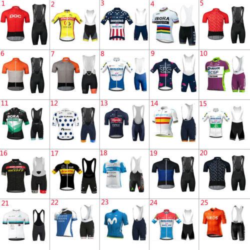 2021 Mens Cycling Jersey & Bib Short Cycling Jerseys Short Sleeve Cycling Shorts
