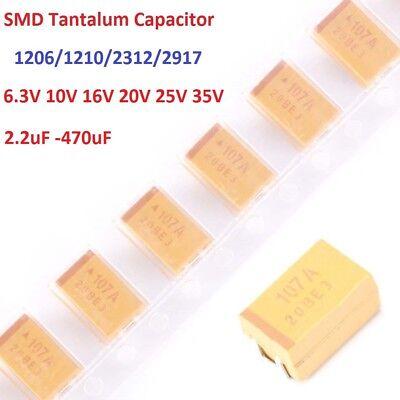 6.3v-35v Various Types Smd Tantalum Capacitors 2.2uf 10uf 22uf 100uf To 470uf