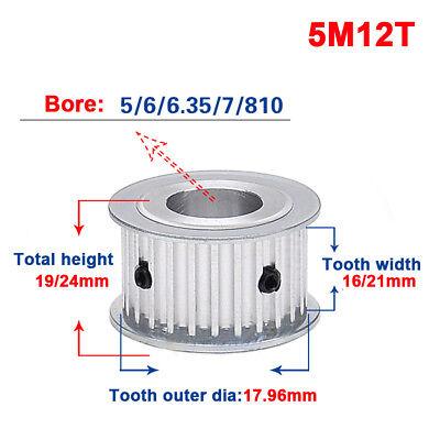 5m 12t Timing Belt Pulley Gear Wheel 566.35810mm Bore For 1520mm Width Belt