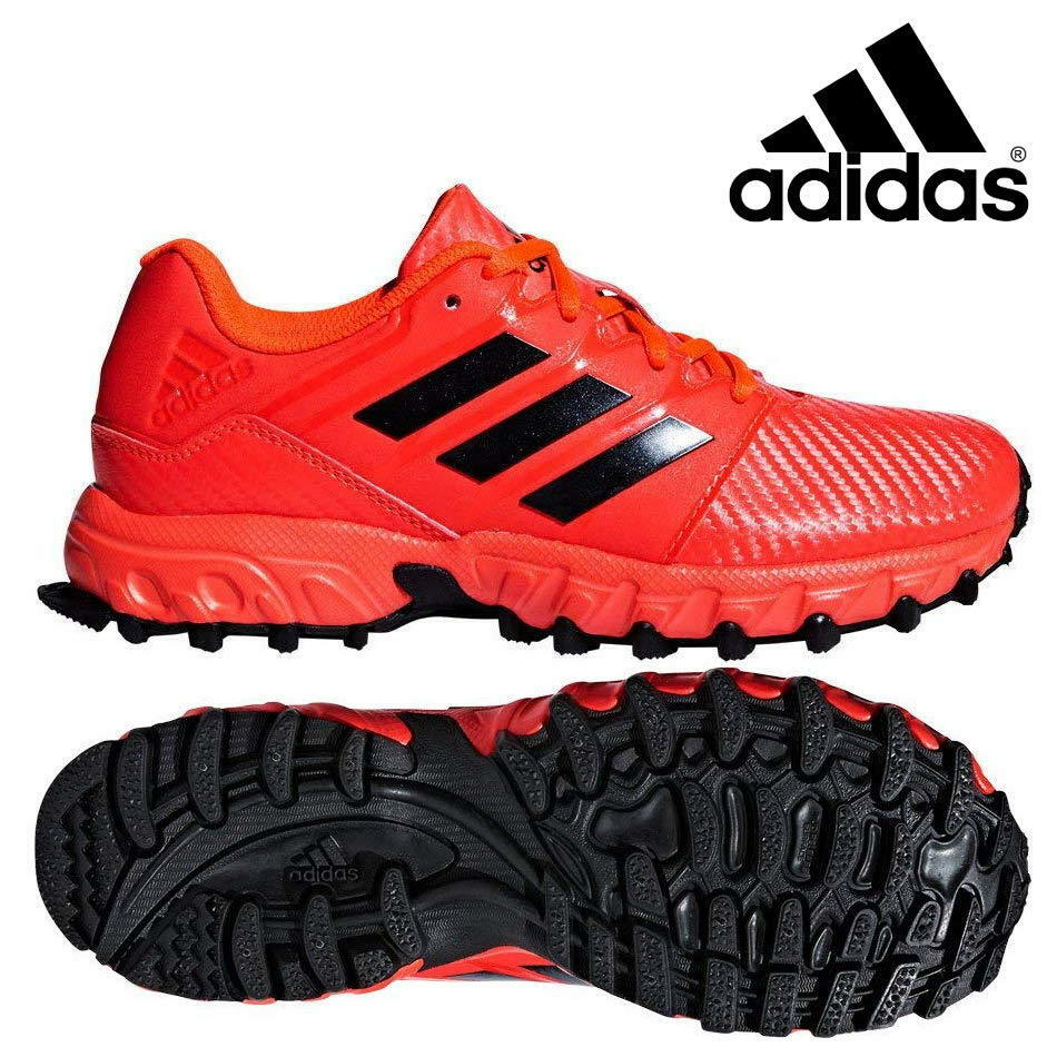 Details about adidas Field Hockey Lux Pro Junior Shoes Kids Boys Girls Red Sports Trainers