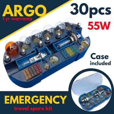 Car Bulb Emergency Spare Kit H1 H4 H7 Van Camper Travel Motorhome Halogen 12v