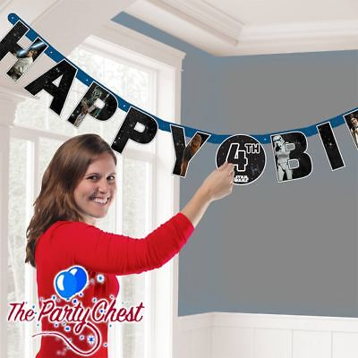 STAR WARS HAPPY BIRTHDAY ADD YOUR OWN AGE BANNER Star Wars Party Decoration 3086 ()
