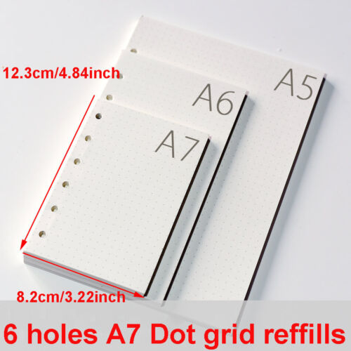 A7 Dot Grid Refills Inserts Paper For Bullet Journals Notebook Diary 90 Sheets