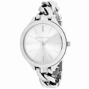666067e8936e Michael Kors Slim Runway White Dial Stainless Steel Ladies Watch MK3279